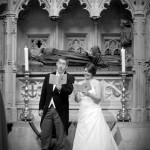 Claire & Mat's wedding photography at St Bartholomew the Great, London & Reception at Coq D'argent