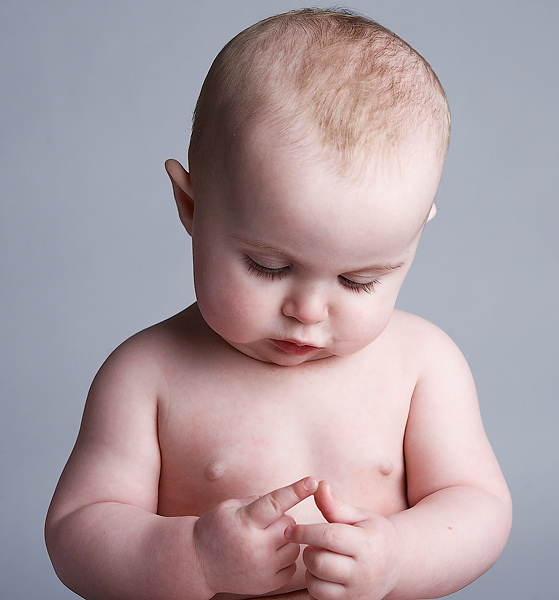 Baby counting on fingers