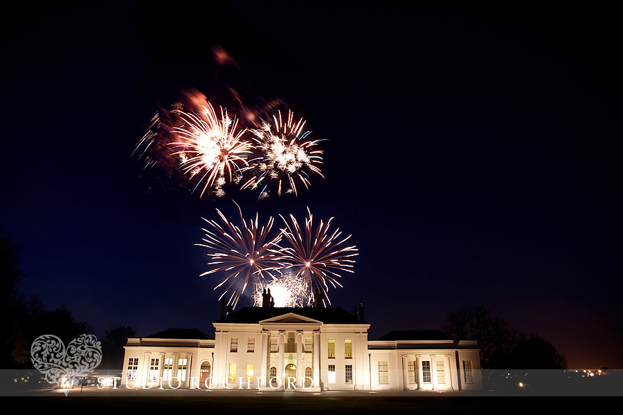 Fireworks at Hylands House Essex Wedding Photography