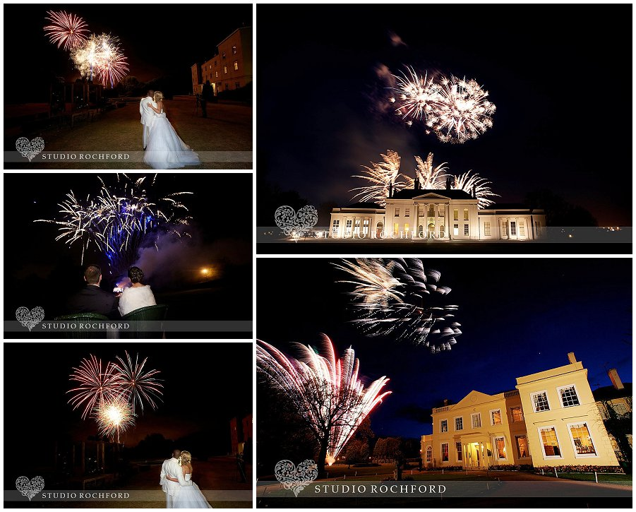 Fireworks at Hylands House & Lawn Essex Wedding Photography