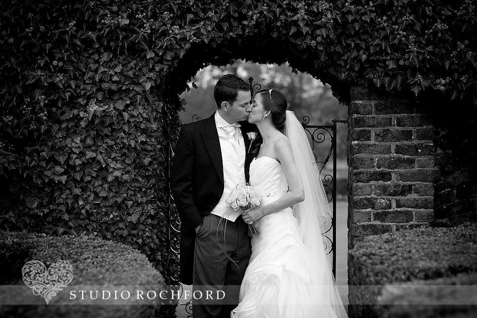 Lawn Rochford Wedding couple in garden