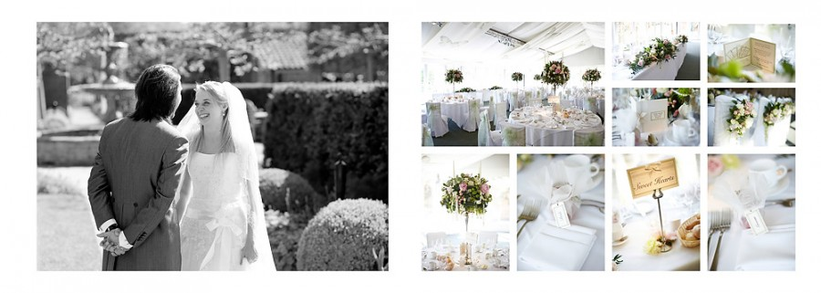 Wedding breakfast details at Braxted