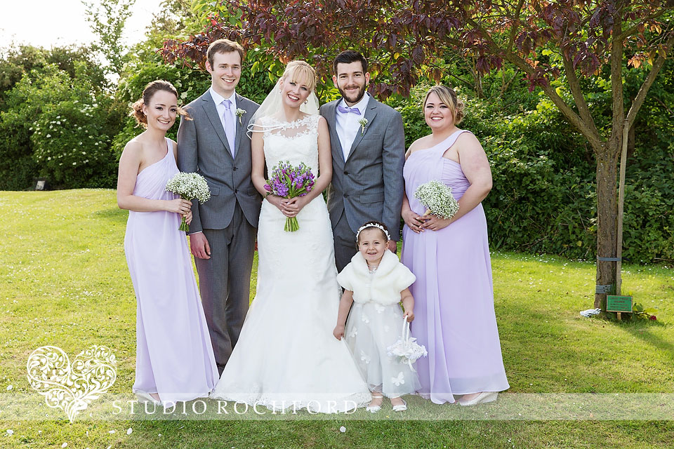 lilac wedding party Essex