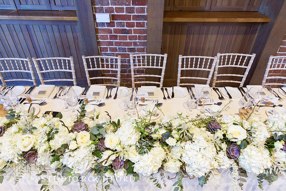 Gaynes Park Epping Wedding Reception Top Table