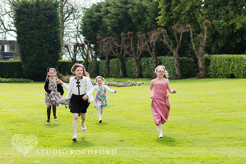 The Lawn Rochford children running