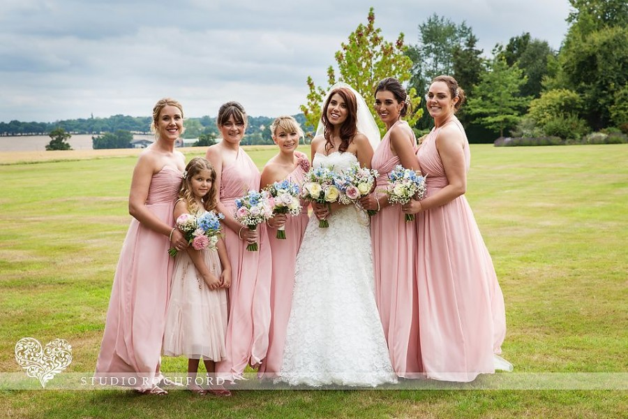 Bridesmaids at Blake Hall Ongar